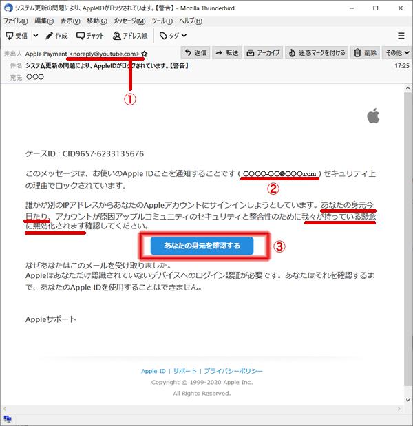 詐欺メール メールアドレス、文章に気をつけて!